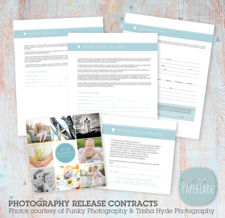 Photography business set up forms templates ng006 paper lark designs photography business set up forms templates ng006 fbccfo Images