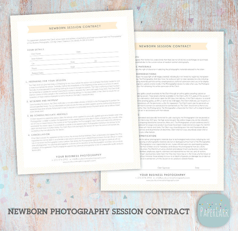 newborn marketing board template in005 paper lark designs