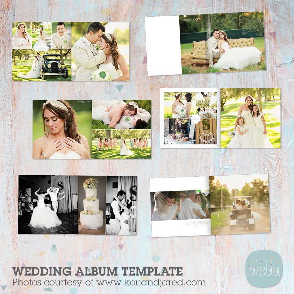 wedding photography album template rw001 paper lark designs. Black Bedroom Furniture Sets. Home Design Ideas
