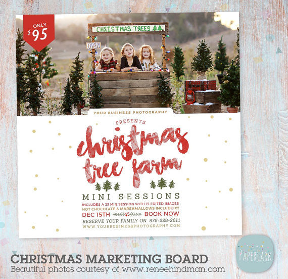 Christmas Tree Farm Mini Sessions.Christmas Tree Farm Mini Session Marketing Board Ic036