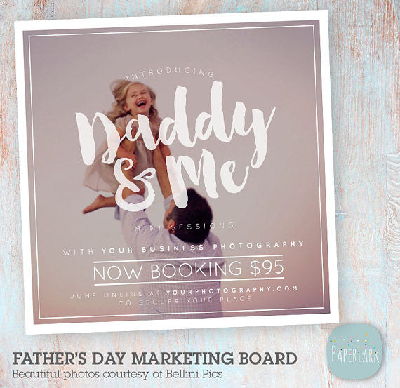 Father S Day Marketing Board Template If022 Paper Lark Designs