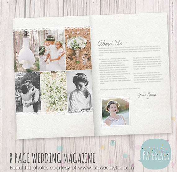 33 page wedding photography magazine template pg020 for Templates for wedding photographers