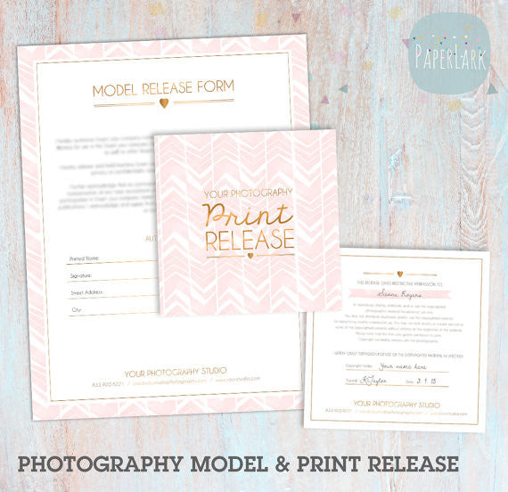 Photography Model And Print Release Templates Ng  Paper Lark Designs