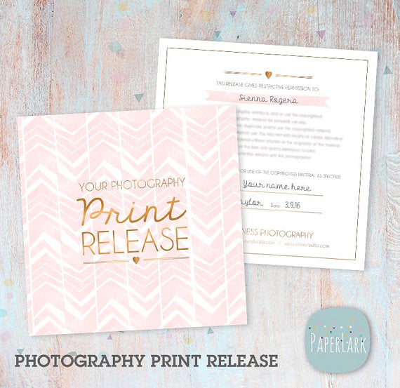 Photography Print Release Template VG008