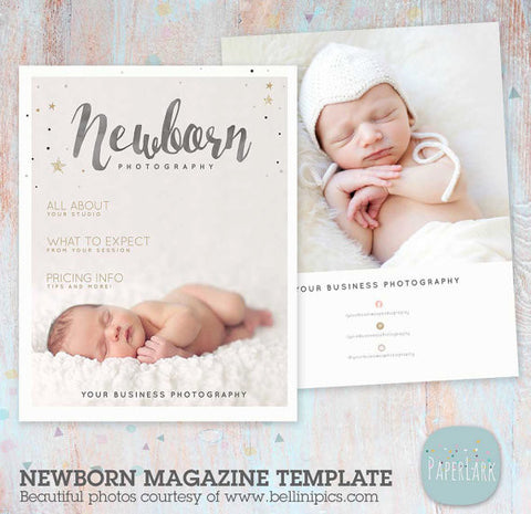 22 page newborn photography magazine template pg016 for Birth photography contract template