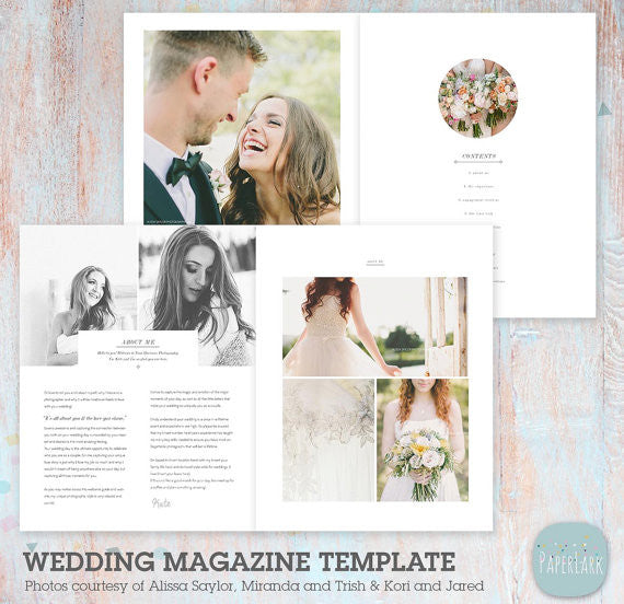33 page wedding photography magazine template pg020 for Wedding photography magazine template