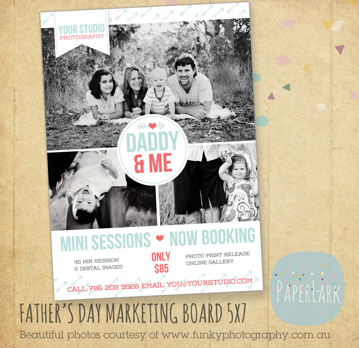 Father\'s Day Marketing Board Template IF009   Paper Lark Designs