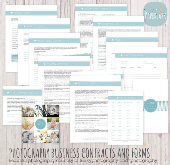 Photography business forms contracts set ng007 paper lark designs photography business forms and contracts set templates by paper lark designs fbccfo