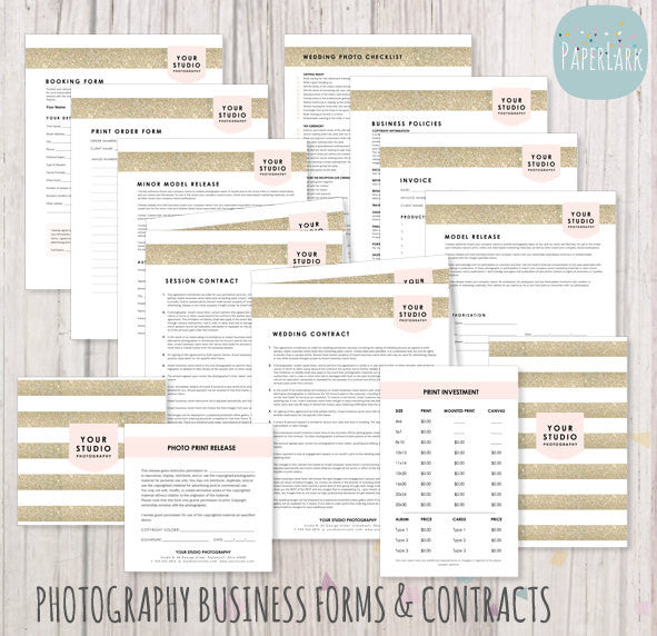 Photography business forms contracts set ng009 paper lark designs photography business forms and contracts set templates by paper lark designs fbccfo Images