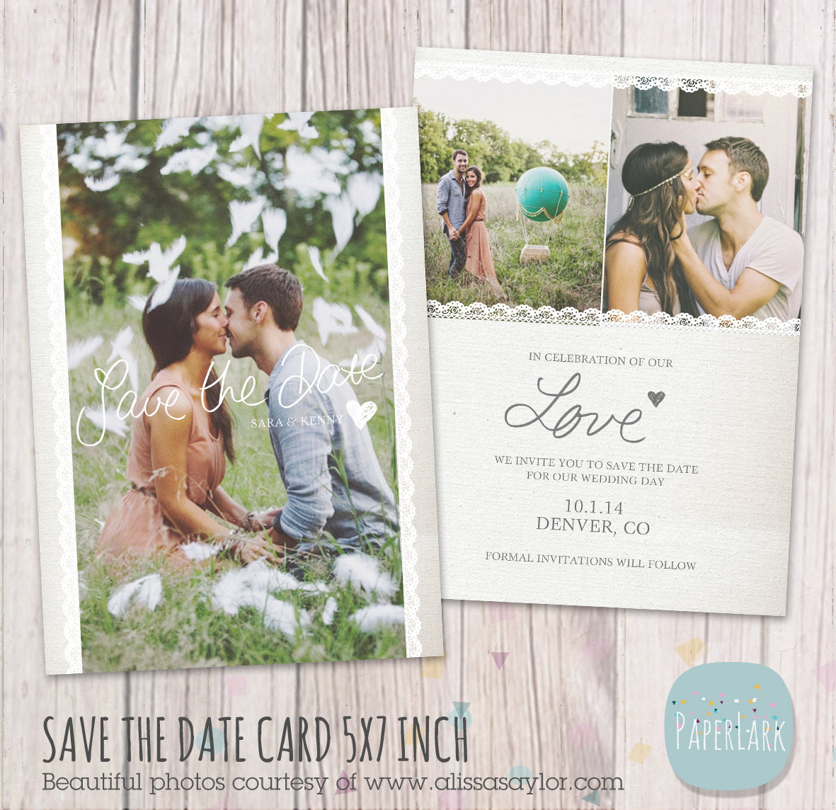 Wedding Save The Date Card AW017