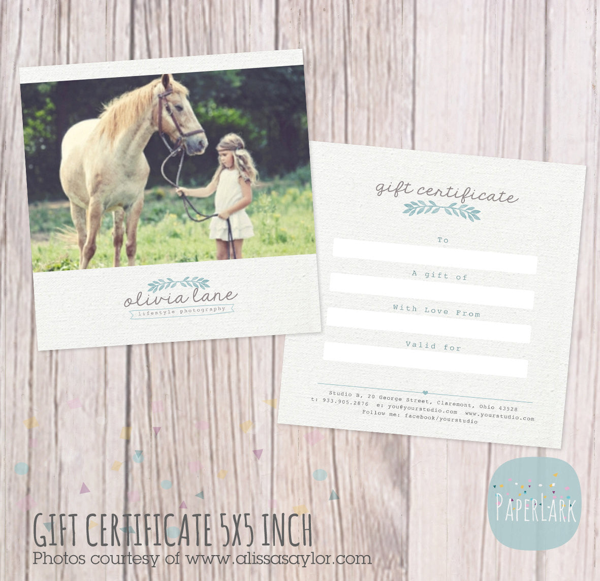 gift certificates paper lark designs gift certificate card template by paper lark designs