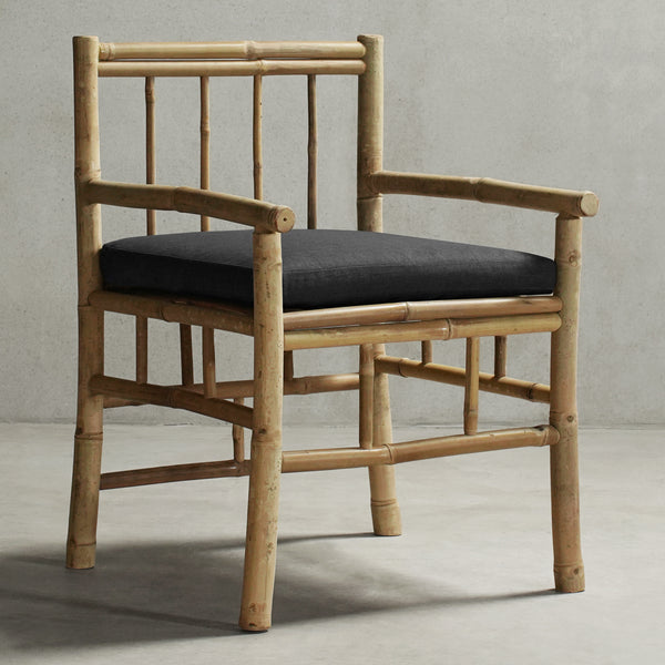 KUSEN-BAMBOO DINING CHAIR-01-Stone