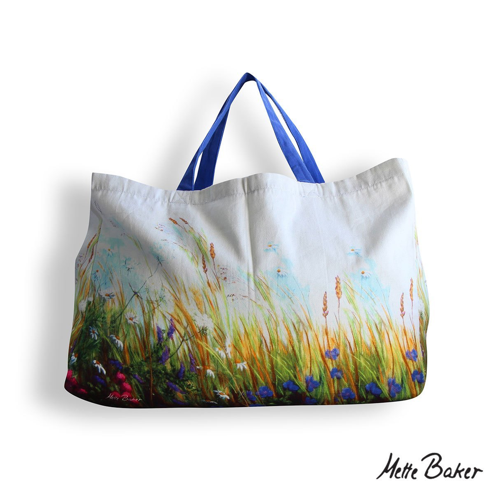 Beach Bag - Field Flowers pattern