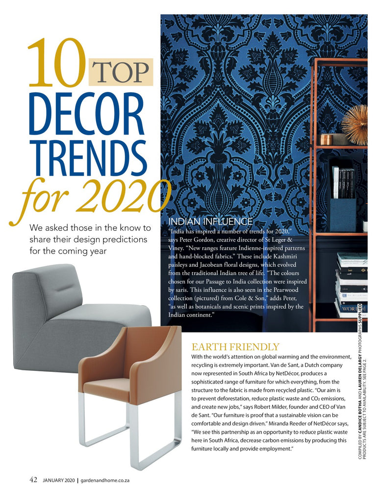 10 TOP DECOR TRENDS FOR 2020