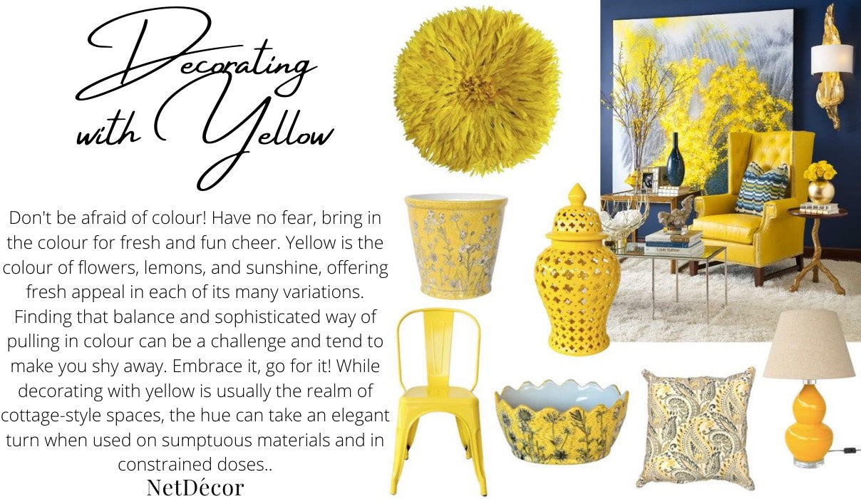 NetDecor Decorating with Yellow