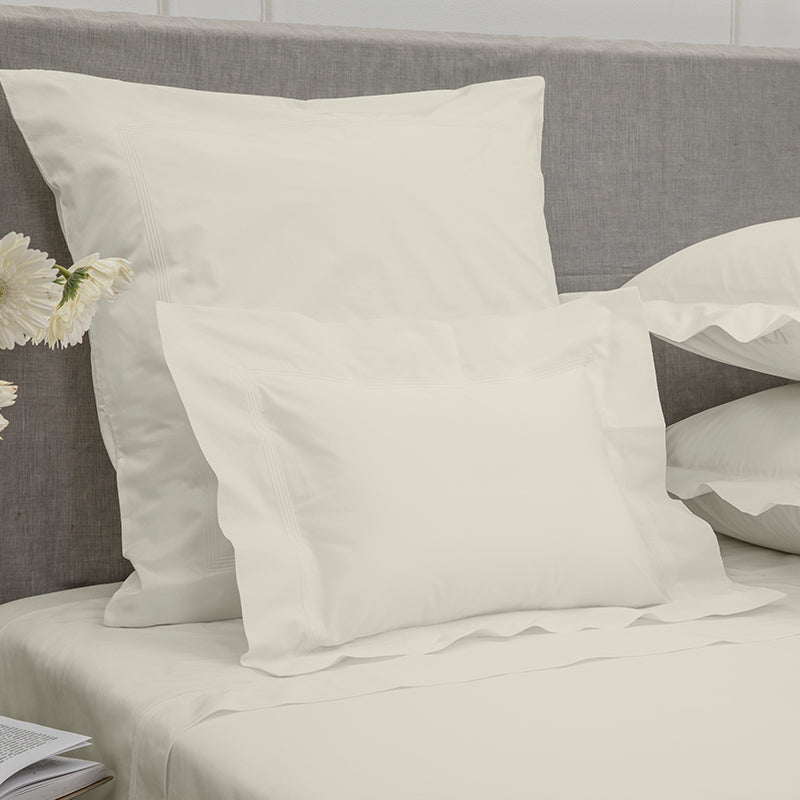 Percale Four Row Cord Glacier Grey Glacier Grey Decorative Pillowcase