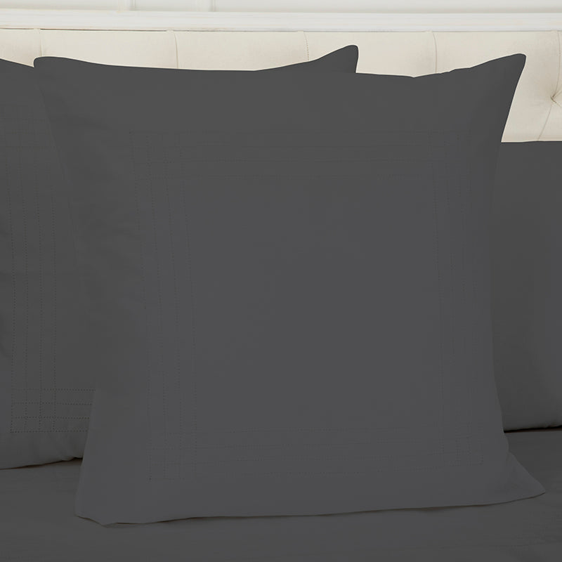 Sateen Grafton Charcoal Decorative Pillowcase