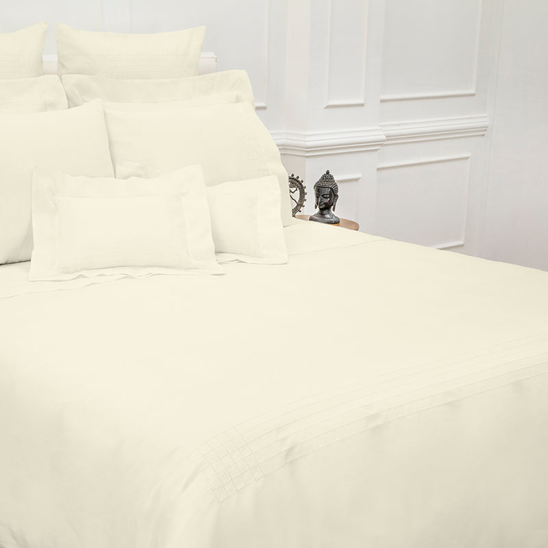 Sateen Grafton Ivory Duvet Cover