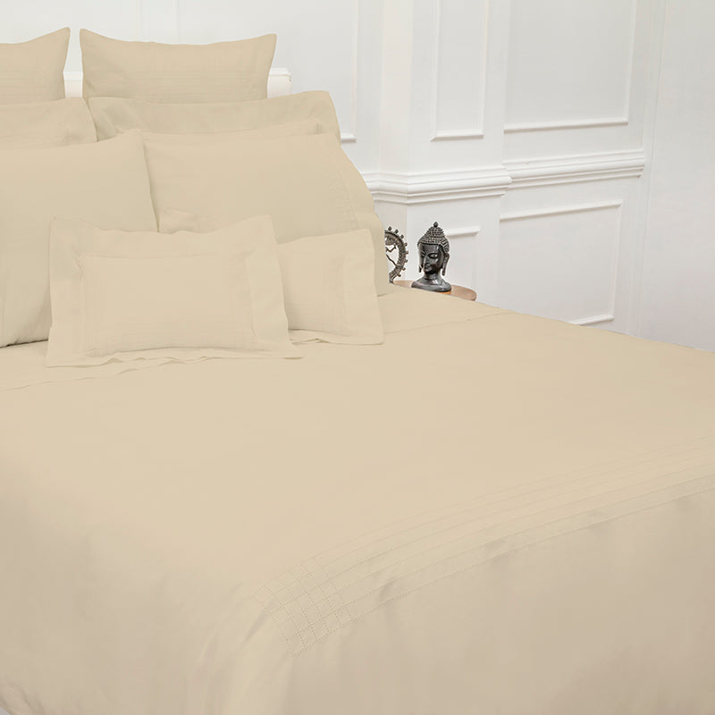 Sateen Grafton Taupe Duvet Cover