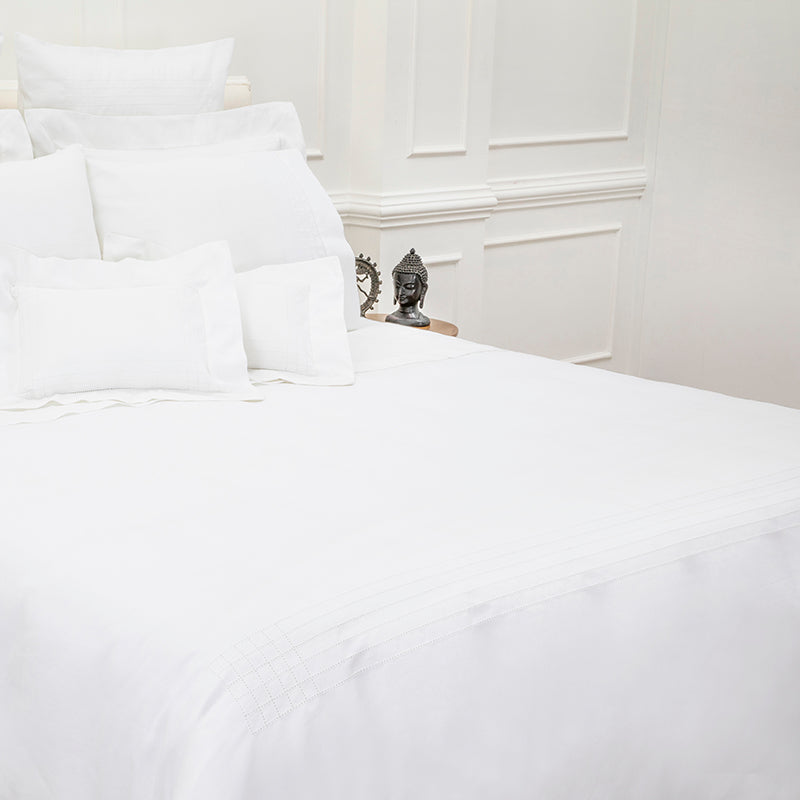 Sateen Grafton White Duvet Cover