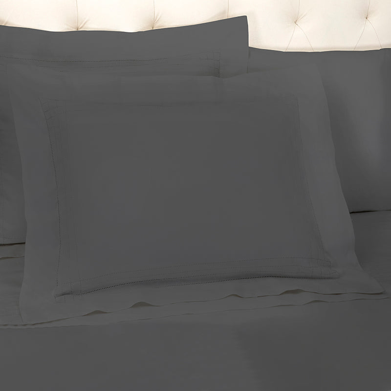 Sateen Grafton Charcoal Oxford Pillowcase