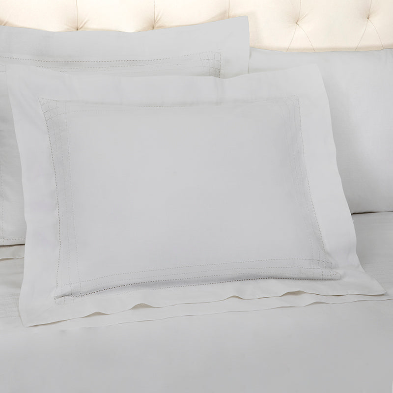 Sateen Grafton Glacier Grey Oxford Pillowcase