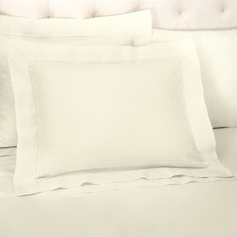 Sateen Grafton Ivory Oxford Pillowcase
