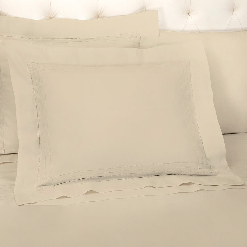 Sateen Grafton Taupe Oxford Pillowcase
