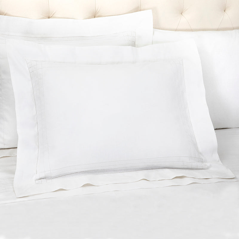 Sateen Grafton White Oxford Pillowcase
