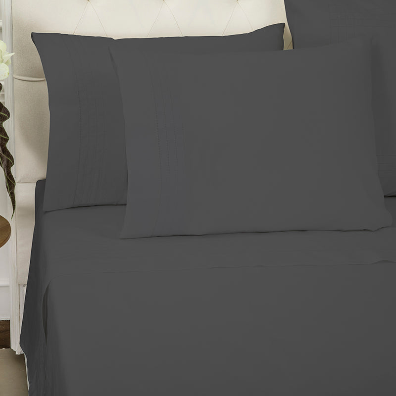 Sateen Grafton Charcoal Sheet Set