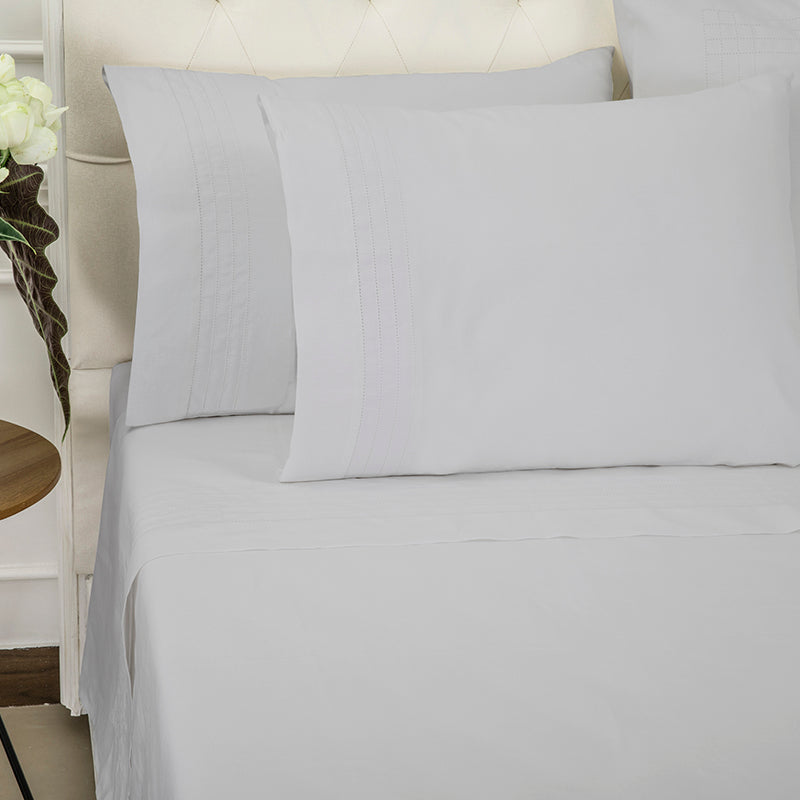 Sateen Grafton Glacier Grey Sheet Set