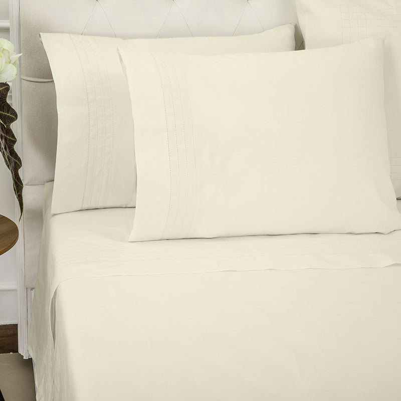 Sateen Grafton Ivory Sheet Set