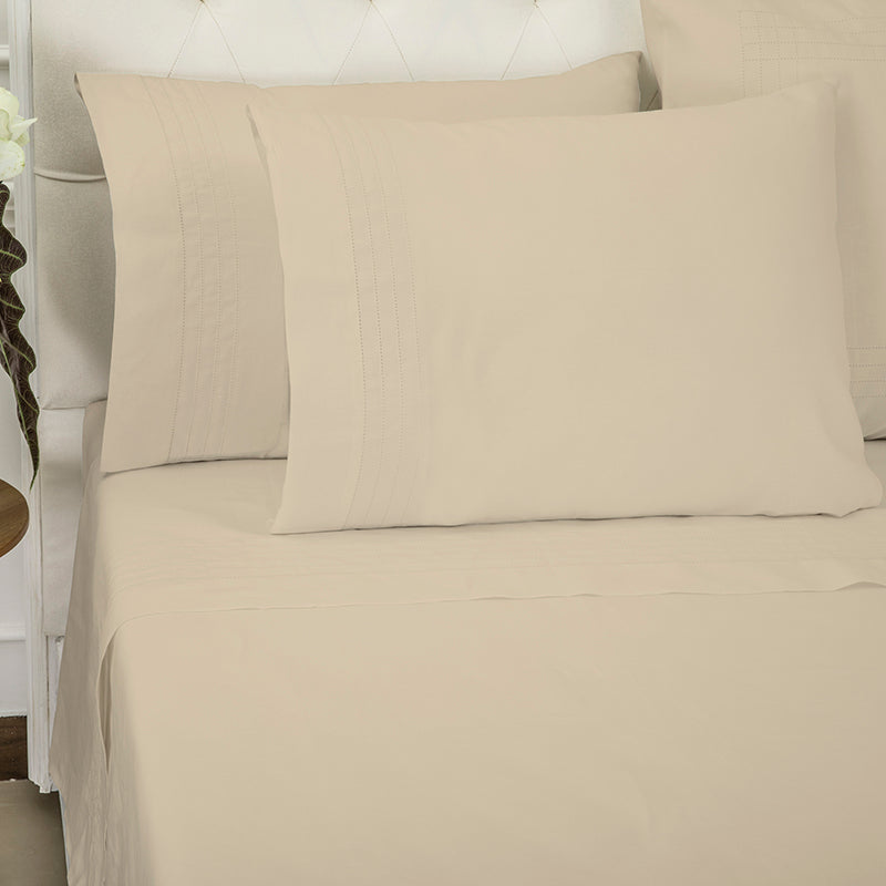 Sateen Grafton Taupe Sheet Set