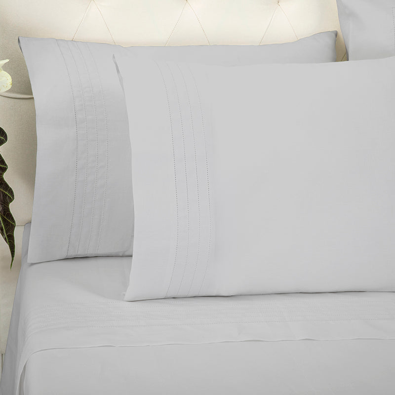 Sateen Grafton Glacier Grey Standard Pillowcase
