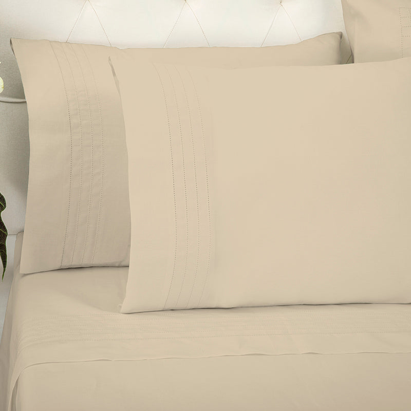 Sateen Grafton Taupe Standard Pillowcase