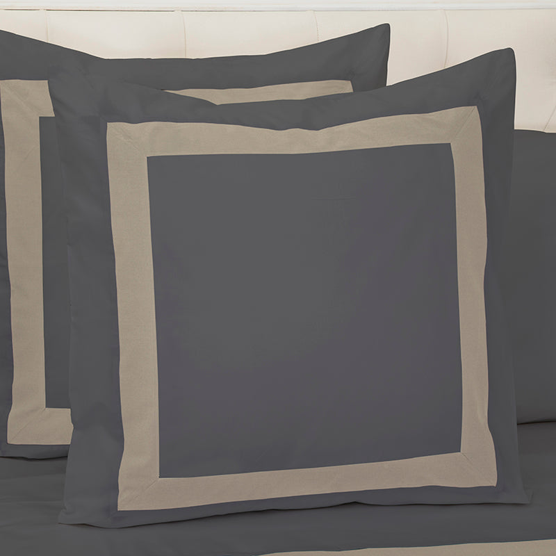 Sateen Kilkeel Charcoal Taupe Decorative Pillowcase