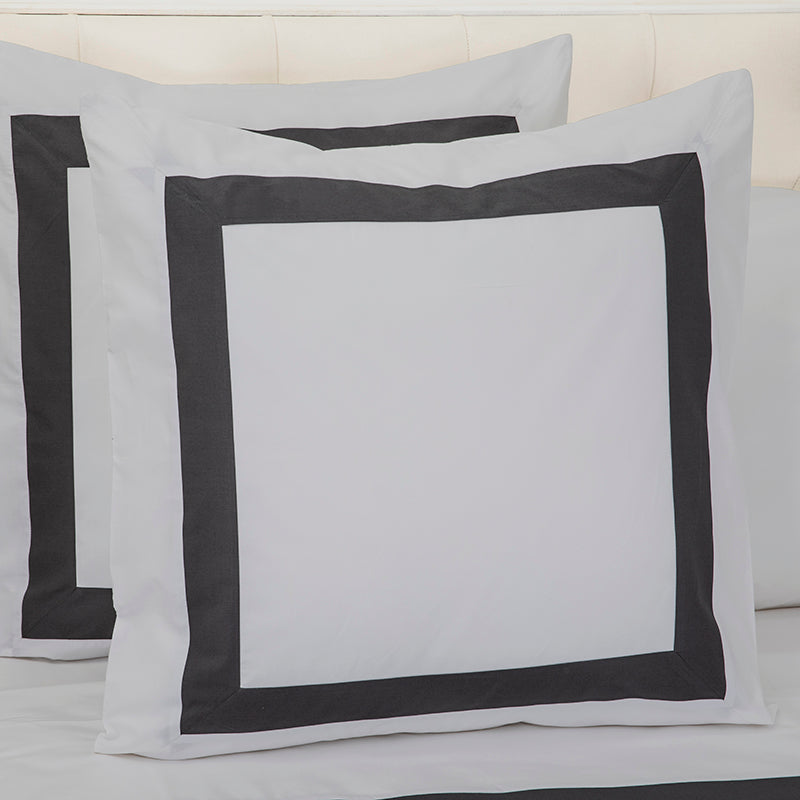 Sateen Kilkeel Glacier Grey Charcoal Decorative Pillowcase