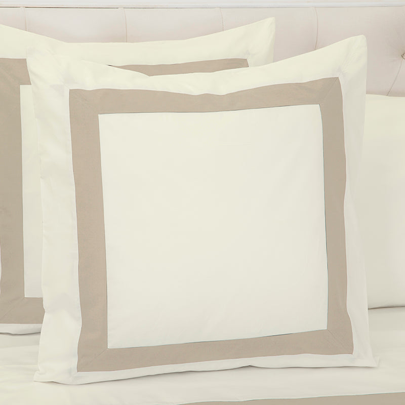 Sateen Kilkeel Taupe Ivory Decorative Pillowcase
