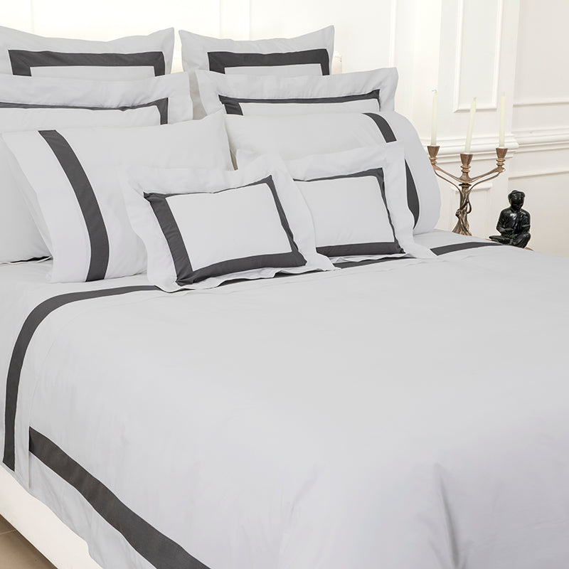 Sateen Kilkeel Glacier Grey Charcoal Duvet Cover