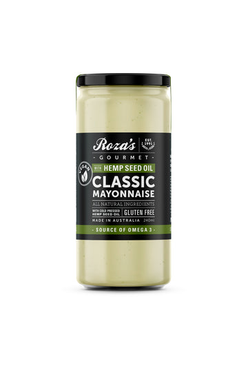 Roza's Gourmet Classic Mayonnaise with Hemp Seed Oil 230 G