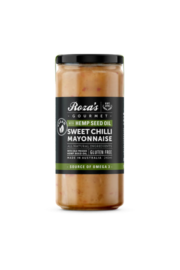 Roza's Gourmet Sweet Chilli Mayonnaise with Hemp Seed Oil 230 G