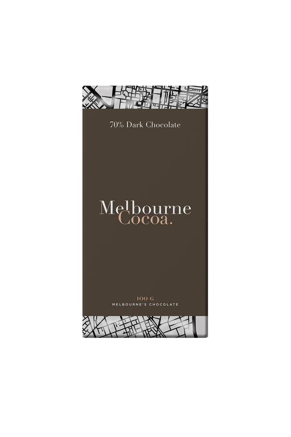 Melbourne Cocoa 70% Dark Chocolate Bar 100 G
