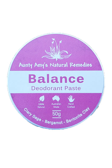 Aunty Amy's Natural Remedies Balance Deodorant Paste 50 G
