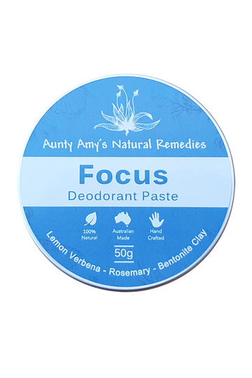 Aunty Amy's Natural Remedies Focus Deodorant Paste 50 G
