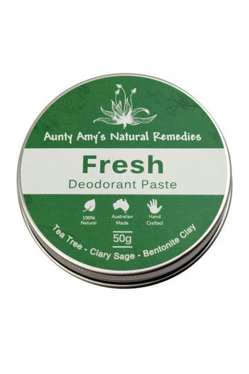 Aunty Amy's Natural Remedies Fresh Deodorant Paste 50g