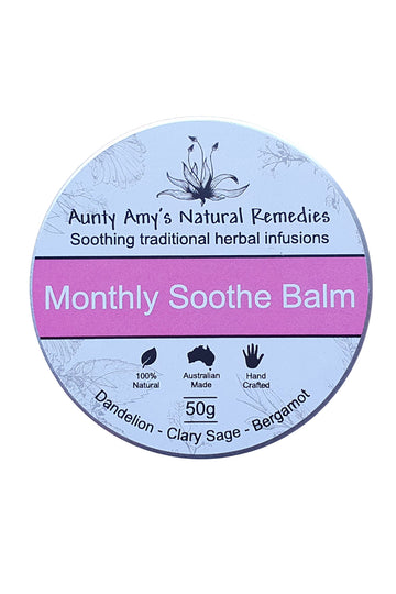 Aunty Amy's Natural Remedies Monthly Soothe Balm 50 G