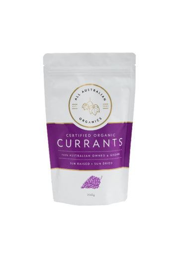 All Australian Organics Certified Organic Currants 250 G