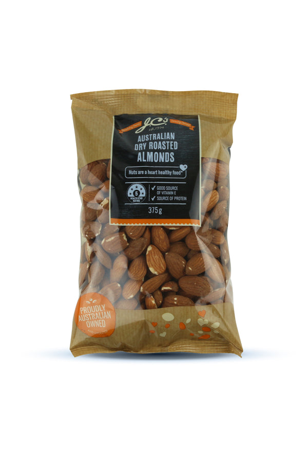 JC'S Premium Almonds Roasted 375 G