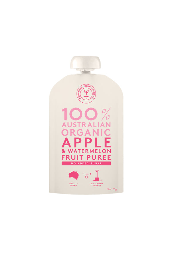 Australian Organic Food Co Organic Apple & Watermelon Fruit Puree 120g