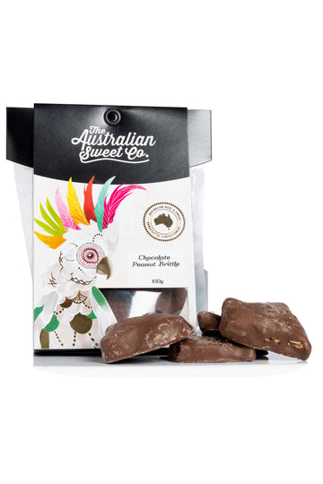 Australian Sweet Co Chocolate Peanut Brittle 150 G